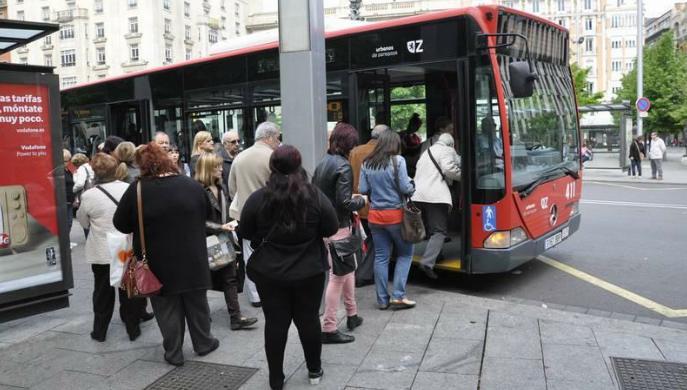 transporte urbano de viajeros por autobús en Zaragoza