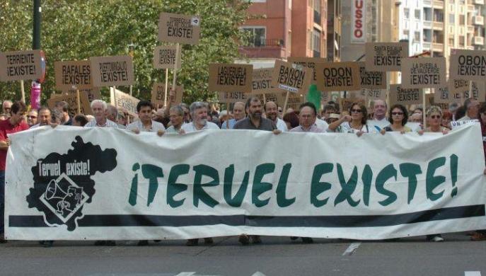 Teruel Existe se manifestará en Zaragoza el próximo mes de mayo