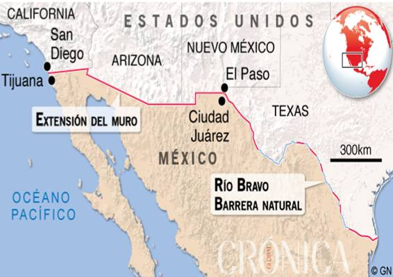 Mapa EEUU_Mexico