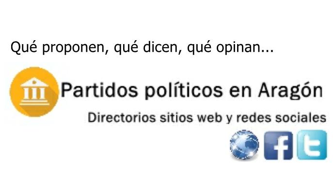 Directorios sitios Web y Redes Sociales de Partidos Políticos en Aragón