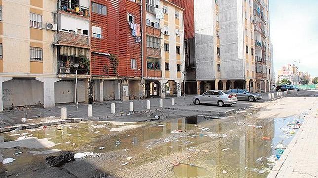 Aguas fecales barrio Sevilla