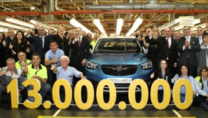 Opel-PSA alcanza los 13 millones de unidades fabricadas