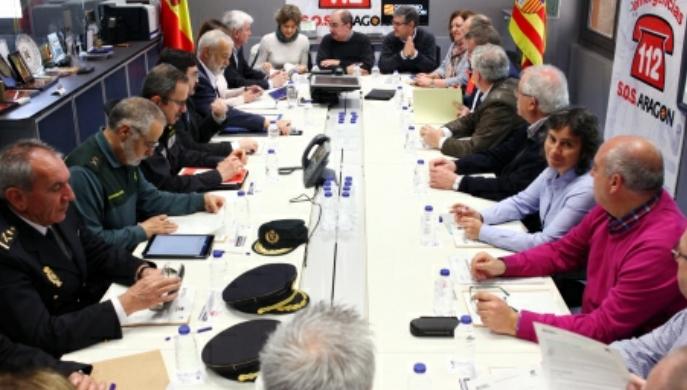 """La situación de la crecida del Ebro está """"controlada"""", asegura Lambán"""