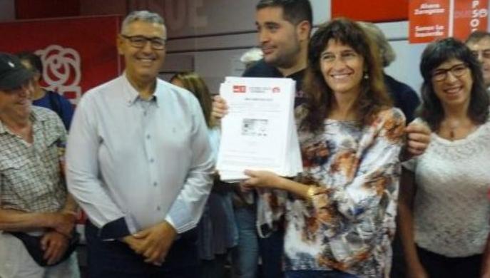 La candidata Carmen Dueso