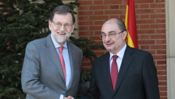 El presidente de Aragón, Javier Lambán se reúne con Mariano Rajoy