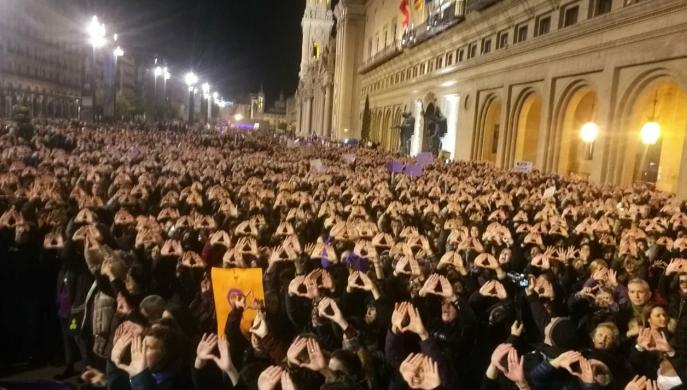 Manifestación Dia de la Mujer en Zaragoza Fotografía de Juan Fustero