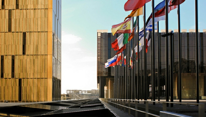 Europa refuerza el Estado de Derecho. Sede del Tribunal de Justicia de la UE (TJUE)