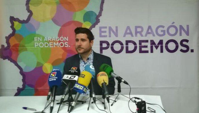 Por la presencia de Podemos en el Gobierno de Aragón