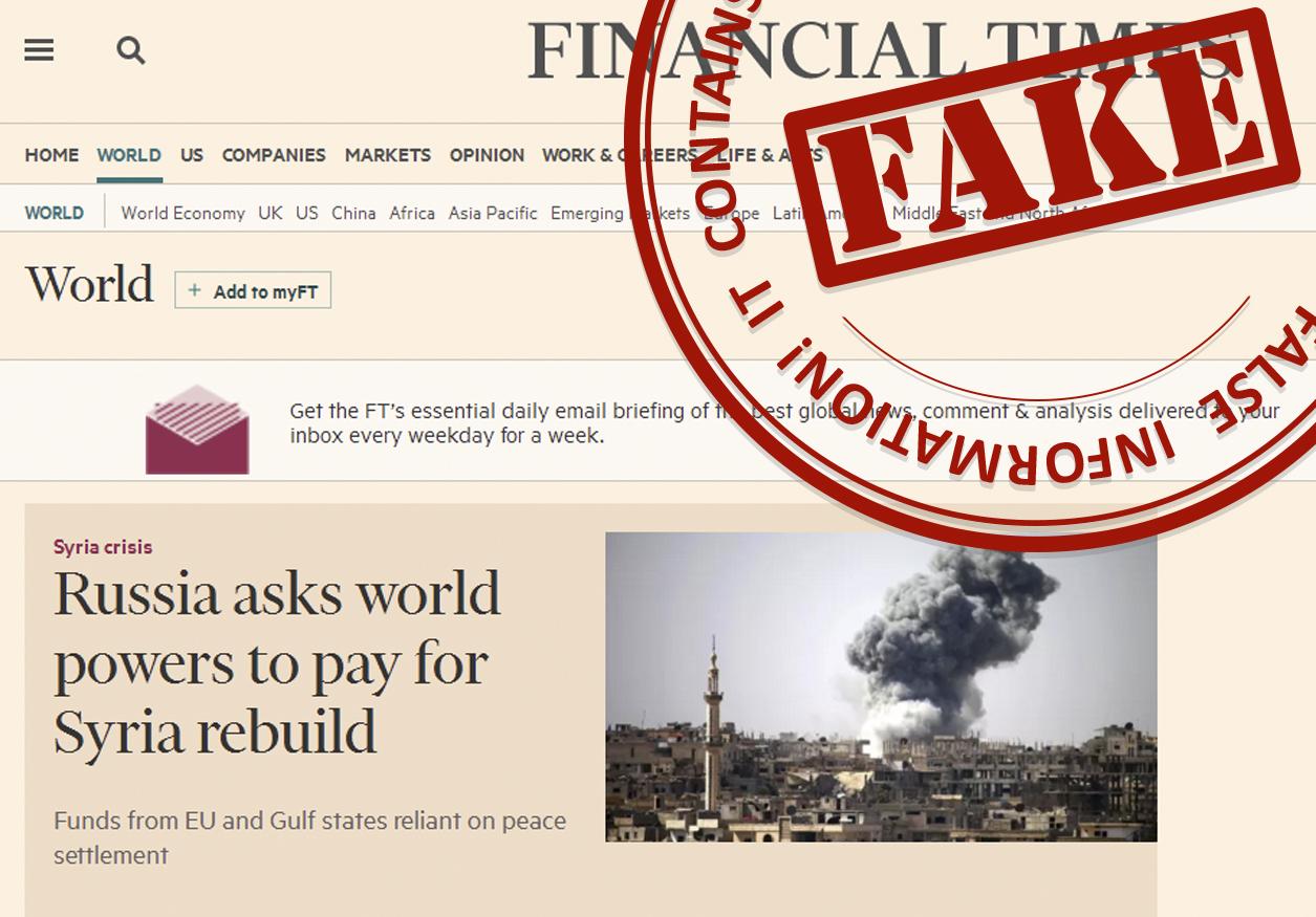 Imagen de una noticia calificada como falsa