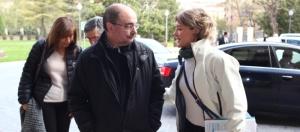 Javier Lambán e Isabel G Tejerina asisten a reunión del CECOP