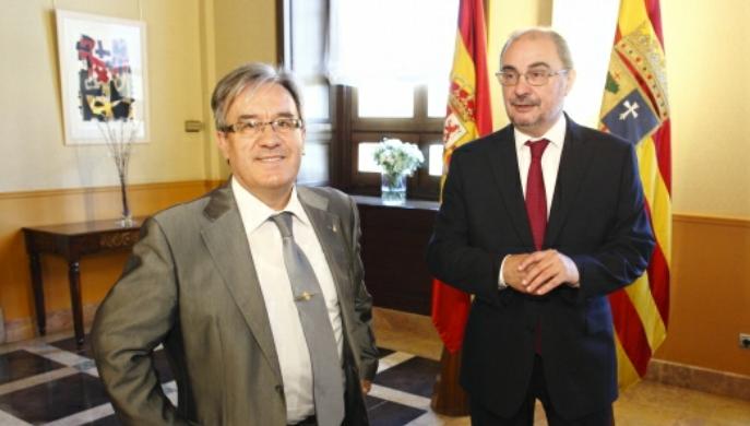 El Justicia de Aragón Angel Dolado mantiene su primer encuentro con el Presidente de Aragón