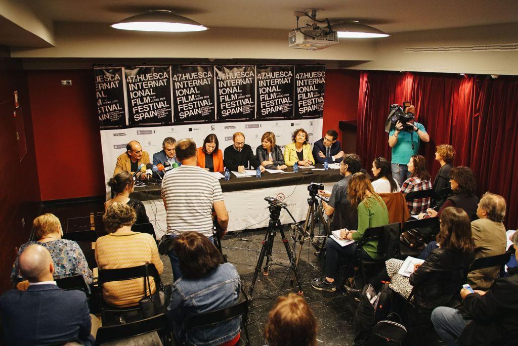 Momento de la rueda de prensa de presentación del 47º Festival Internacional de Cine de Huesca