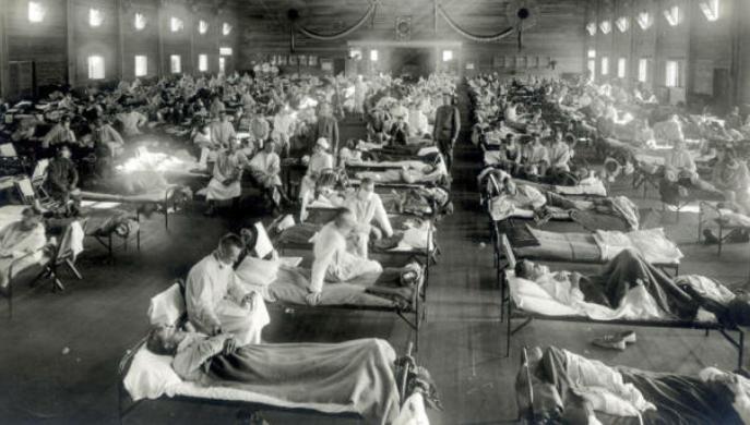 Epidemia de gripe en 1918