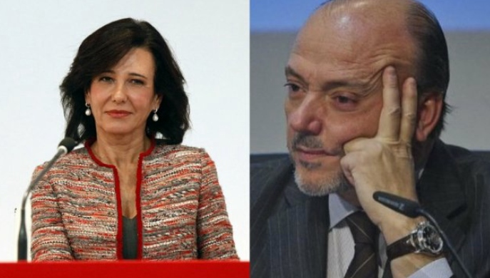 Ana Patricia Botín y Javier Monzón